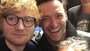 Wie unhöflich! Ed Sheeran zeigt Hugh Jackman Mittelfinger!