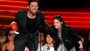 Hugh Jackman und Dafne Keen bei den MTV Movie & TV Awards in Los Angeles 2017