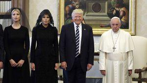 Ivanka Trump, Melania Trump, Donald Trump und Papst Franziskus im Vatikanstaat