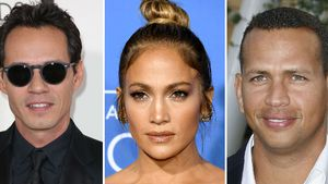 Marc Anthony, Jennifer Lopez & Alex Rodriguez (v.l).