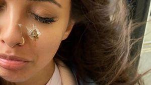 Mitten ins Gesicht: Little-Mix-Star Jade von Möwe angekackt