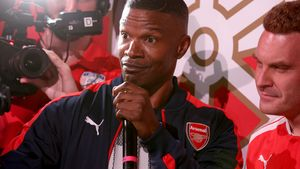 "Jamie Foxx beim ""PUMA und Arsenal Fußball Club 2016/17 AFC Away & Third Kit Reveal Event"""