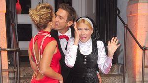 """Janni Hönscheid, Peer Kusmagk und Sonya Kraus auf der Premiere von """"Sister Act"""" in Berlin"""