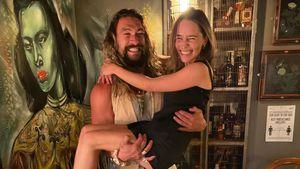 GoT-Reunion: Jason Momoa trägt Emilia Clarke auf Händen