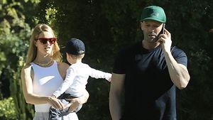 Seltener Anblick: Jason Statham ganz privat mit Rosie & Jack