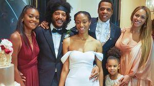 Nach Zwillings-Geburt: Beyoncé mit Family bei Hochzeit!