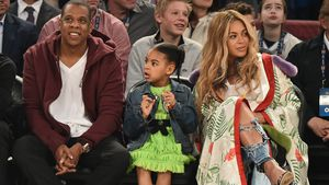 Jay Z, Blue Ivy und Beyoncé beim 66th NBA All-Star Gamein New Orleans
