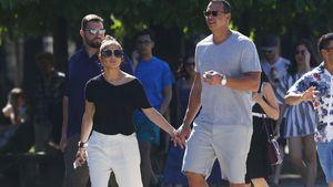 Jennifer Lopez und Alex Rodriguez im Jardin des Tuileries in Paris