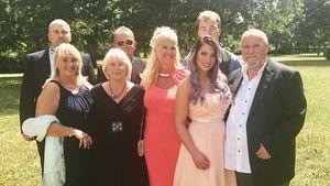 Jenny Frankhauser mit ihrer Familie