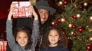 Jérôme Boateng mit seinen beiden Töchtern