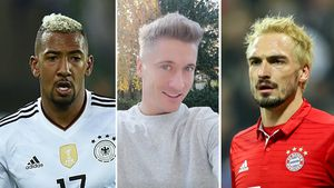 Haariger Bayern-Trend: Fußball-Stars werden zu Blondinen!