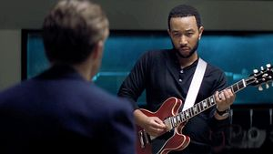 "John Legend mit Ryan Gosling in ""La La Land"""