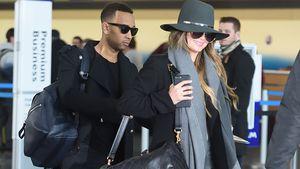 John Legend und Chrissy Teigen am JFK-Flughafen in New York