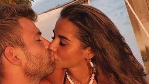 Sarah Lombardi und ihr Julian: Heiße Küsse auf den Malediven