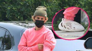 Skurriler Bieber-Look! Was sind denn das für Schuhe, Justin?