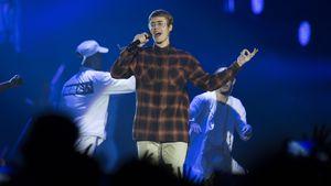Justin Bieber auf einem Konzert in Madrid