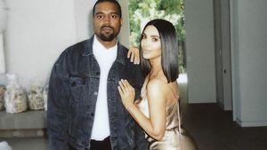 Kim Kardashian & Kanye West sind jetzt mit 3. Baby zu Hause