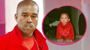 Rapper Kanye West und Sohn Saint West