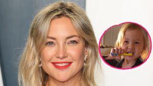Originell! Kate Hudsons Tochter Rani singt beim Zähneputzen