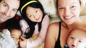 Katherine Heigl mit Ehemann Josh und ihren Kindern Naleigh, Adalaide und Joshua
