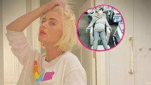 Kurz vor Geburt: Katy Perry total erschöpft im Baby-Laden