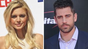 Kelly Rohrbach und Aaron Rodgers
