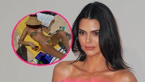 Fast nackt: Kendall Jenner relaxt im Micro-Bikini am Strand
