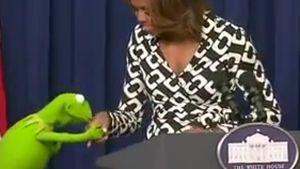 Jetzt per Du: Kermit traf Michelle Obama wieder