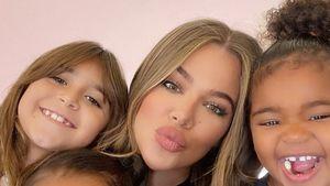 Süß: Hier posiert Khloé mit Tochter True und ihren Nichten