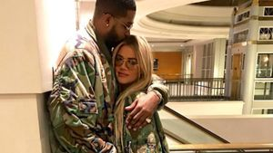 Khloe Kardashian (r.) und Tristan Thompson im Partnerlook