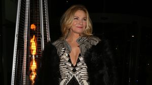 Schauspielerin Kim Cattrall in Liverpool