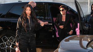 Ganz in Schwarz: Kim, Kylie und Kris beim gemeinsamen Dinner