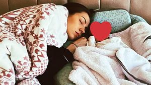 Hier machen Kristina Yantsen und ihr Baby ein Nickerchen