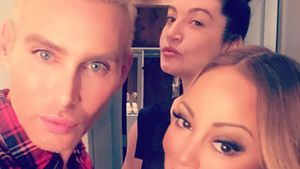 Make-up-Artist Kristofer Buckle, Stylistin Danielle Priano und Mariah Carey