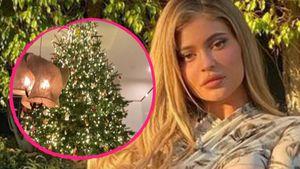 XXL-Tanne: US-Star Kylie Jenner total im Weihnachtsfieber