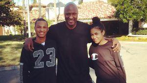 Lamar Odom und seine Kinder Lamar Jr. und Destiny