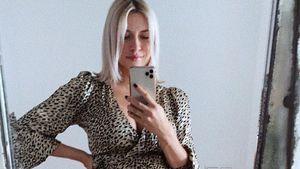 Wegen Babybauch: Lena Gerckes Kleid ist wohl etwas zu kurz!