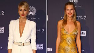 "Lena Gercke & Toni Garrn (r.) bei der ""Fashion2Night""-Show in Hamburg"