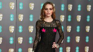 Nippelblitzer: Lily-Rose Depp ohne BH bei den BAFTA-Awards