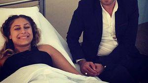 Linda Teodosiu kurz nach ihrer Brust-OP