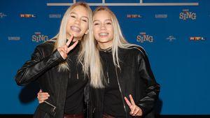 """Lisa und Lena bei der Premiere von """"Sing"""" in Köln 2016"""