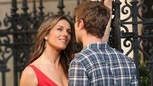 Liz Hurley flirtet am Gossip Girl-Set