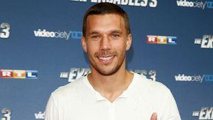 """Lukas Podolski bei der Premiere von """"The Expendables 3"""" in Köln"""