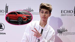 Lukas Rieger und ein Mercedes