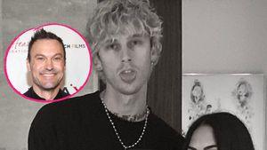 Kein Drama: MGK, Megan Fox und Ex Brian verstehen sich super