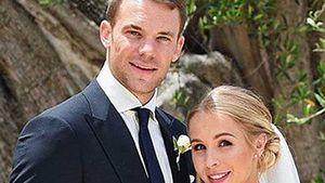 Manuel Neuer und Nina Weiss an ihrem Hochzeitstag in Bari
