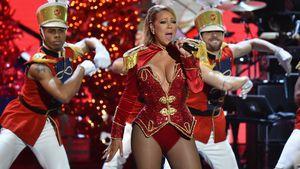 Mariah Carey im Nussknacker-Kostüm bei einem Konzert in New York