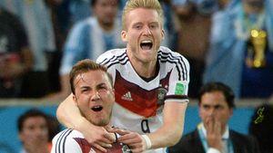 Mario Götze und André Schürrle beim Torjubel im Finale der WM 2014