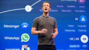 Mark Zuckerberg bei einer Präsentation