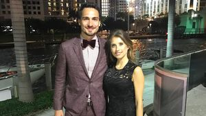 Mats und Cathy Hummels in Miami